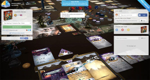 Virtual gaming table of Sword and Sorcery on Tabletopia.