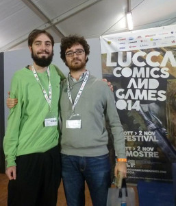 Martino Chiacchiera and Benedetto Degli Innocenti, the authors of Quickpick. (photo by Gioconomicon).