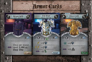 Armor cards: the second step in Defense stage, armors offer protection from enemy attacks.