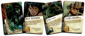 Companion cards: important side characters in Conan's stories help and support him in the game.