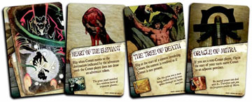 Legendary cards represent some of the most famous magical items encountered by Conan.