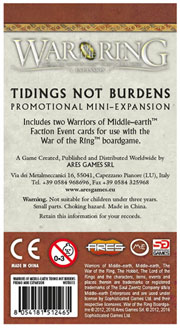 Cover card of the promotional mini-expansion available with pre-orders of Warriors of Middle-earth.