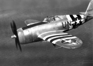 The P-47D 42-26057 piloted by Lt. Elwood D Raymond.
