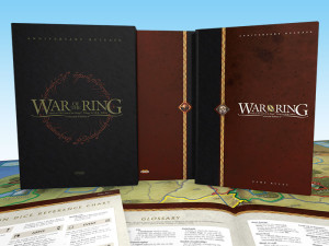 War of the Ring Anniversary Release: Deluxe Edition of the Game Rules and the Strategy Companion, enclosed in a special slipcase.