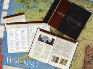 A view of the items in the Deluxe Set, including the extra-size gameboard.