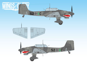 An example of decal for customization of the Junkers Ju.87 B-2.