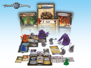 Immortal Souls: a view of the Starter Set's components.