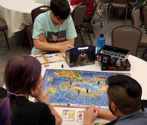 Last Friday session at Salt Lake Count Library, ran by Fongo Bongo Games.