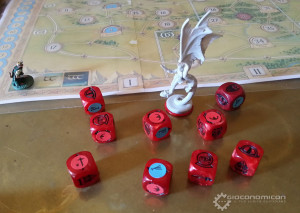 The prototype's dice.