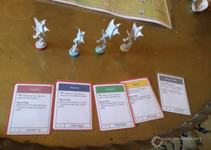 Some figures and prototype cards.