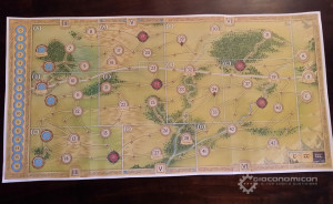 Prototype board of The Hunt for the Ring.