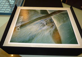 Beautiful full color inserts in heavy cardstock separate the trays.