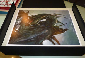 The inserts feature amazing John Howe's art and a visual reference to the tray content.