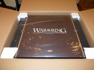 War of The Ring Anniversary Release packaging: well protected, with a polybag, polystirene corners, inside a strong outer carton.