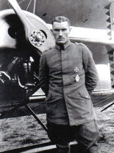 "Hermann Frommherz flew the ""Blaue Maus,""  a light blue Albatros D.III."