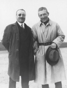 With François Coli, Nungesser (right) disappeared trying to make the first transatlantic flight.