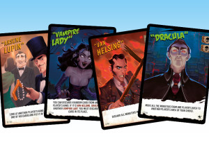 Monsters vs. Heroes: character cards.