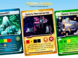 In Master of the Galaxy, the Development Cards  can boost your scientific or military expansion.