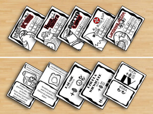 "Prototype cards of ""Birdies"", new development of the original concept."