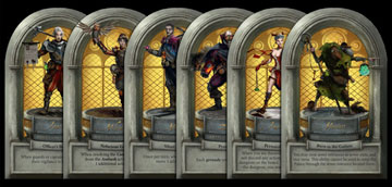 The six characters are represented by thief sheets.
