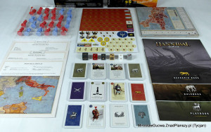 A view of the game's components.