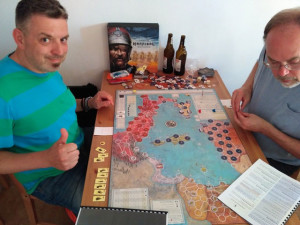 Jaro Andruszkiewicz and  Mark Simonitch playing  Hamilcar.